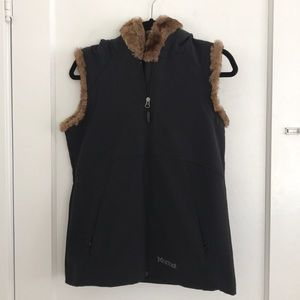 Marmot Waterproof Faux Fur Vest